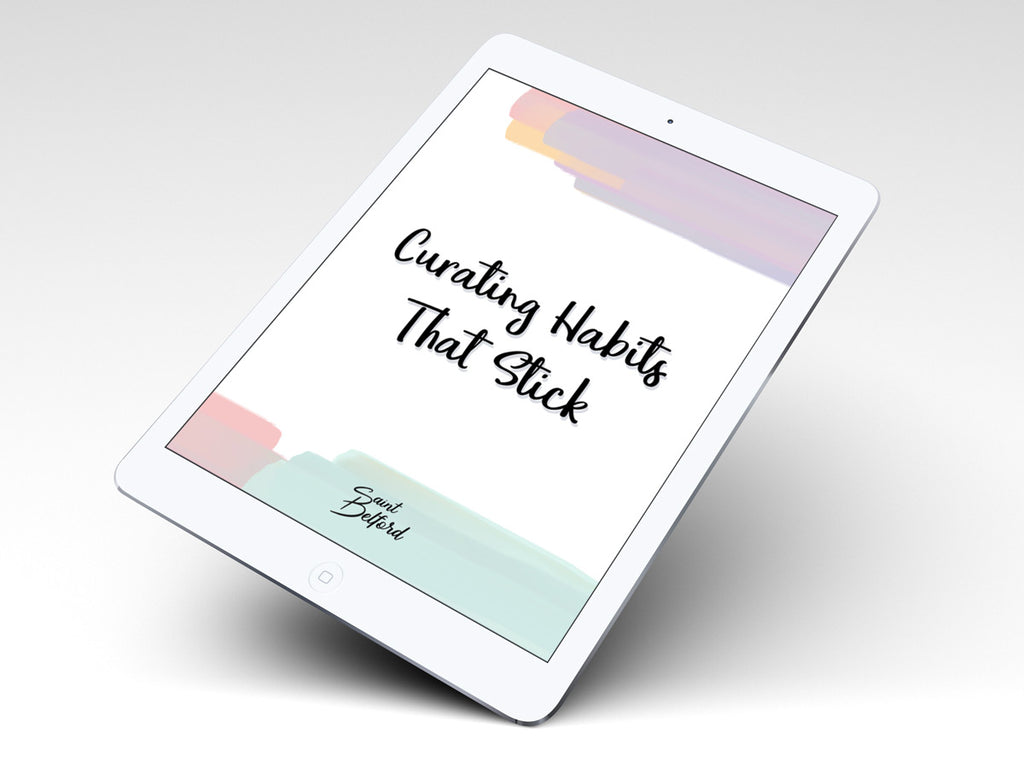 Saint Belford Habits eBook on an iPad