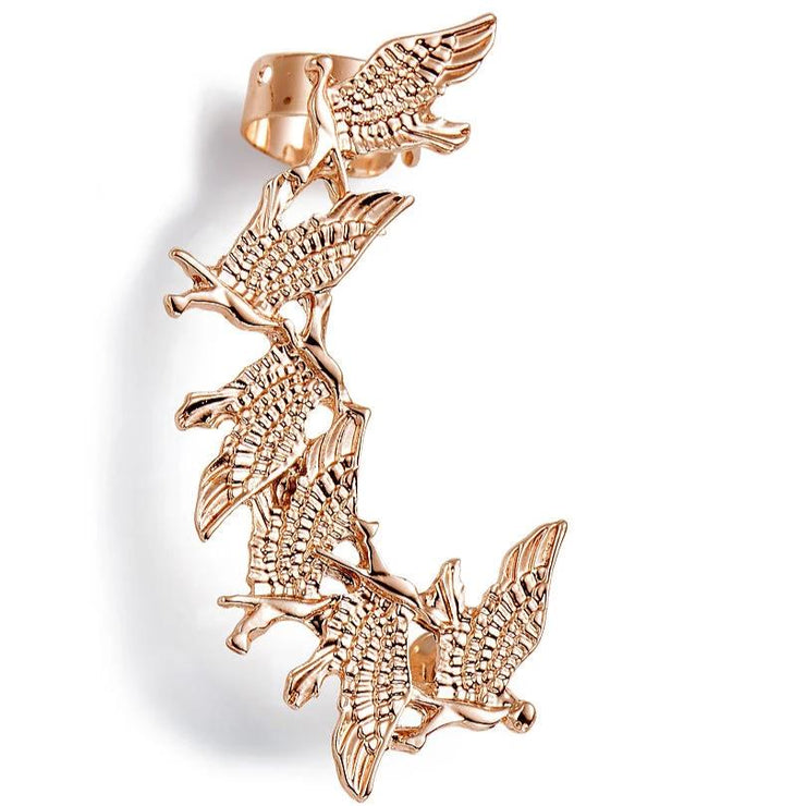 ROSE GOLD BIRDS EAR CUFF