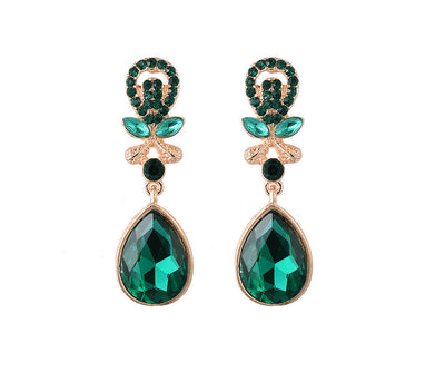 EMERALD VINTAGE EARRINGS