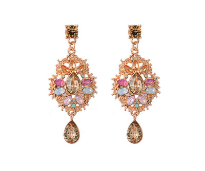 Vintage effect jewelled earrings
