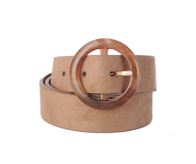 BROWN SUDETTE BELT