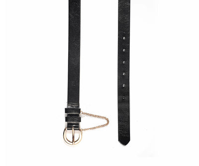BLACK CHAIN BELT