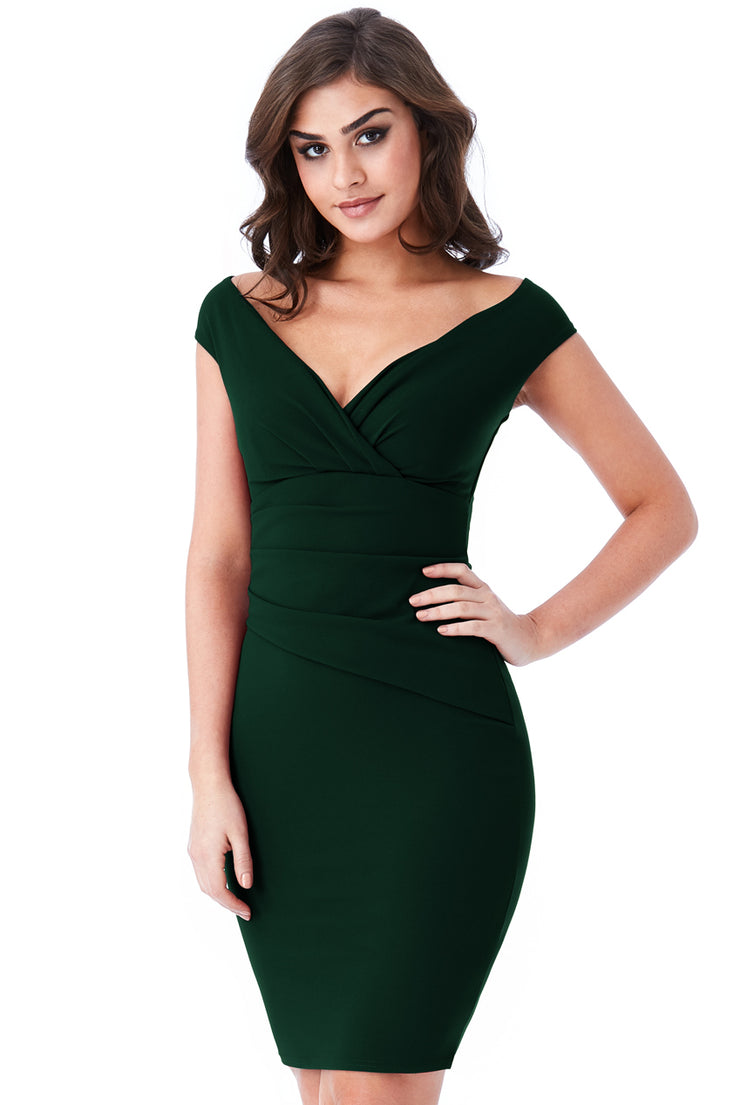 MISS MIDI DRESS EMERALD