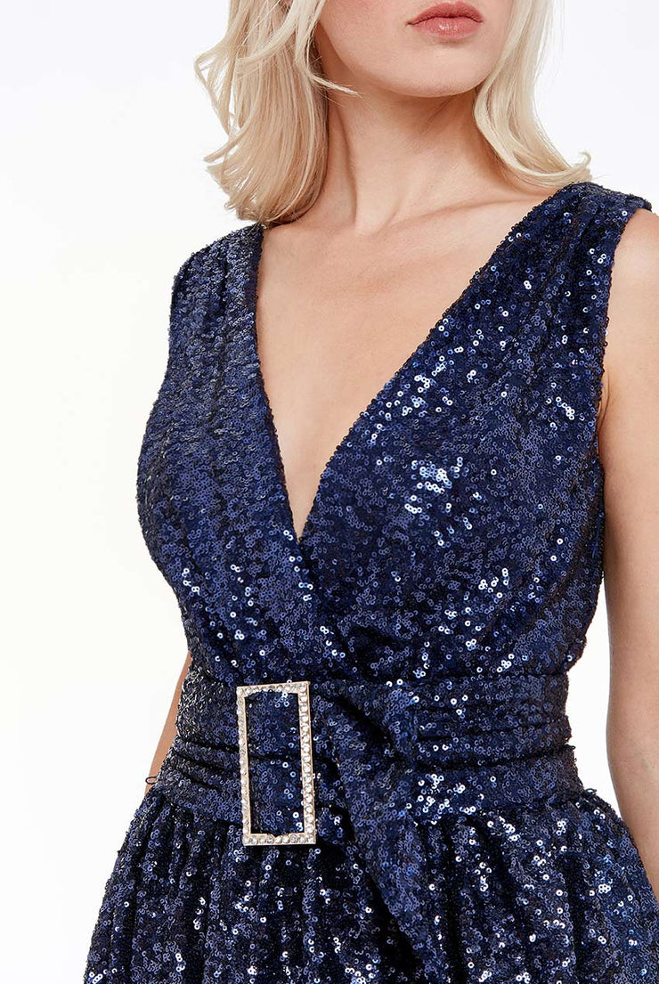 DUTCHESS SEQUIN MIDI NAVY