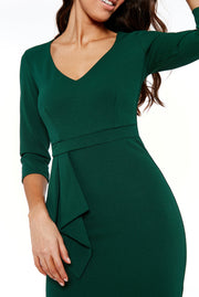 GILLIAN MIDI DRESS EMERALD