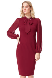 ALICE MIDI DRESS WINE