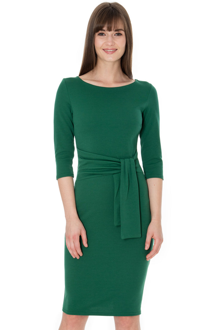 SERENA MIDI DRESS EMERALD