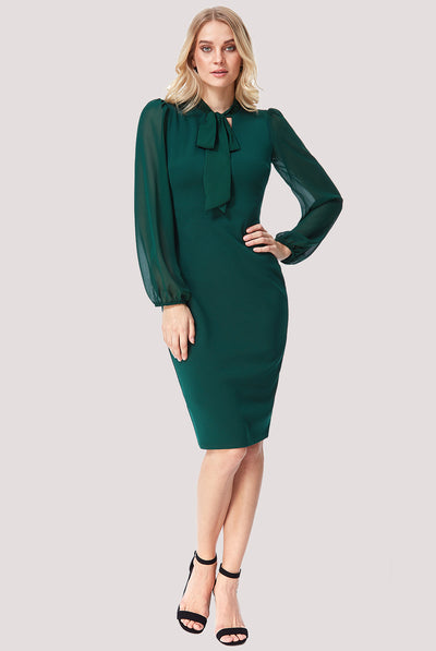 ALICE MIDI DRESS EMERALD