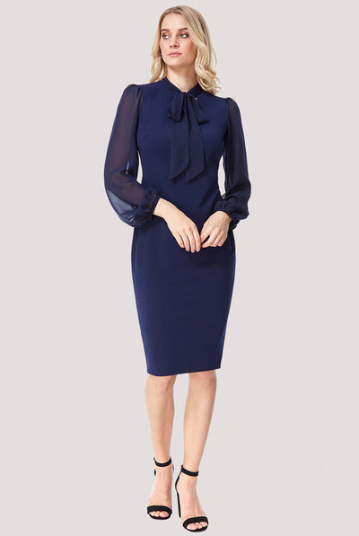 ALICE MIDI DRESS NAVY
