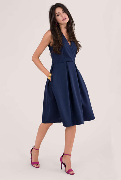 BETTY MIDI DRESS NAVY