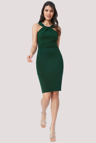 DIANA MIDI DRESS EMERALD