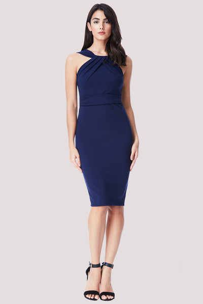 DIANA MIDI DRESS NAVY