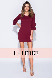 FLAME FRILL MINI DRESS