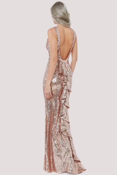 GLORIA MAXI SEQUIN DRESS