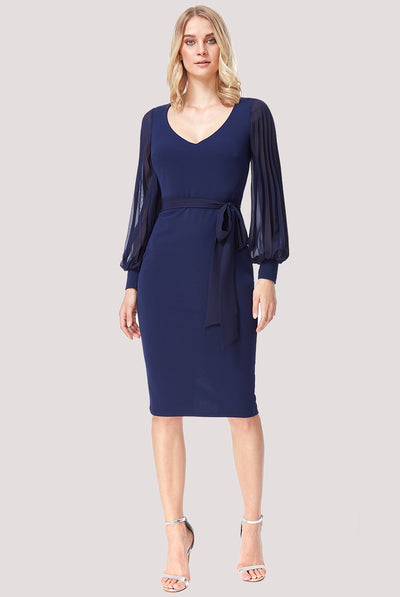 GRACE MIDI DRESS NAVY
