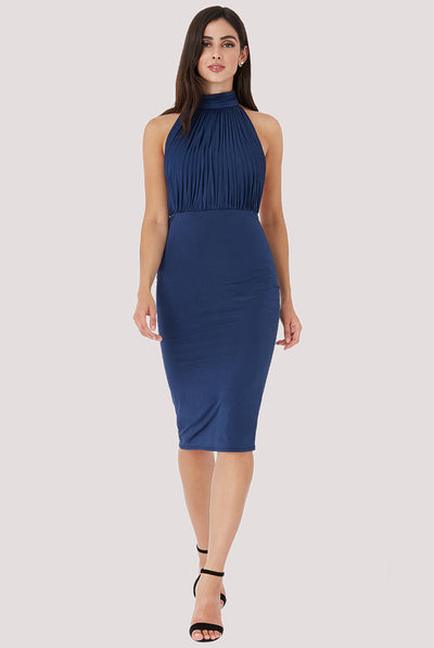 HERMIONE MIDI DRESS NAVY