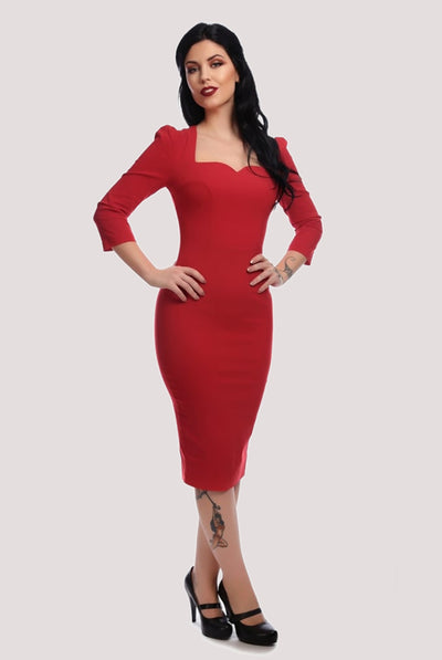 VANESSA MIDI DRESS RED