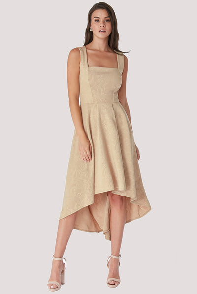 LILLY MIDI DRESS BEIGE