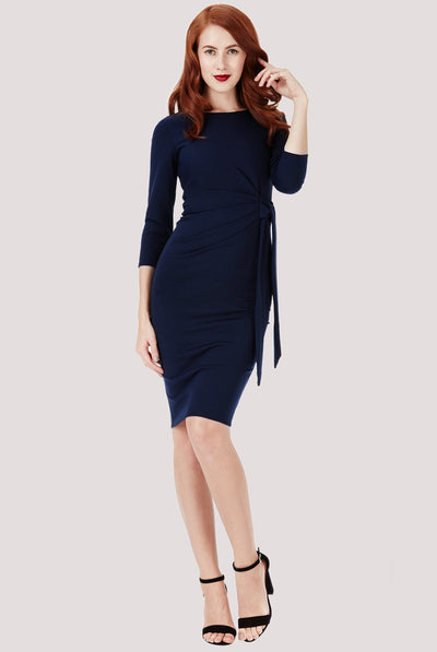 LISA MIDI DRESS NAVY