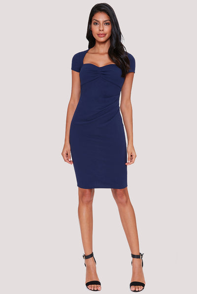 LOCKHEART MIDI NAVY DRESS