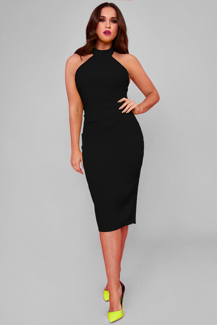 MADISON MIDI DRESS BLACK