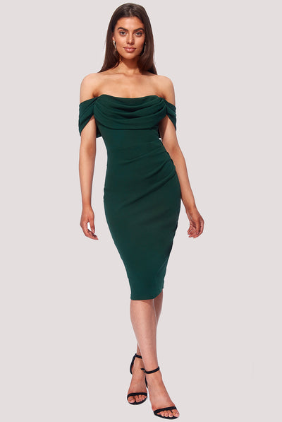 MARILYN MIDI DRESS EMERALD