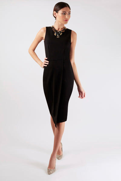 MELANIE MIDI DRESS BLACK