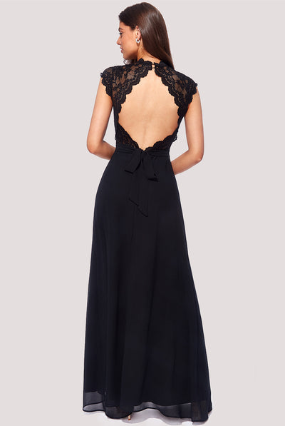 MINERVA MAXI LACE DRESS BLACK