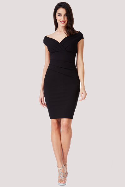 MISS MIDI BLACK DRESS