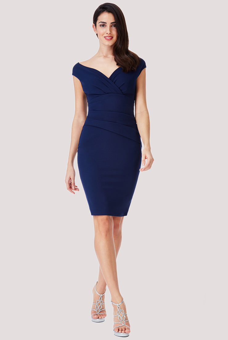 MISS MIDI DRESS NAVY