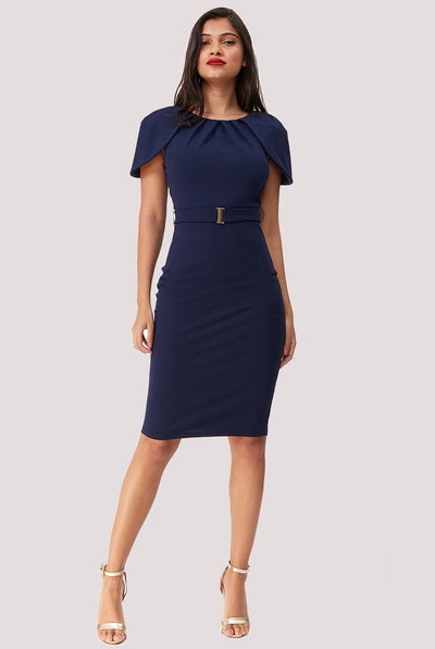 MORGANA MIDI DRESS NAVY