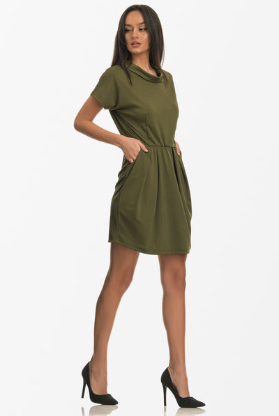 MYRA MINI DRESS KHAKI