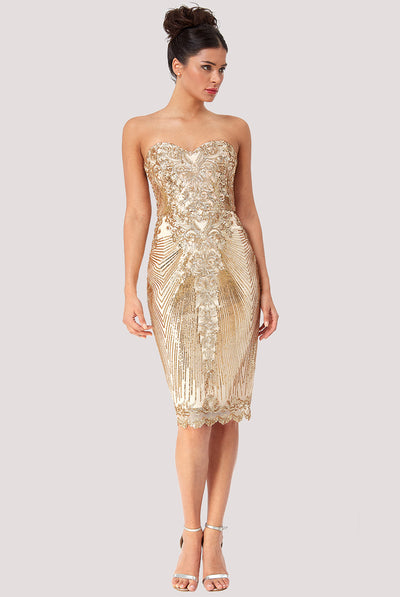 NAOMI MIDI SEQUIN DRESS
