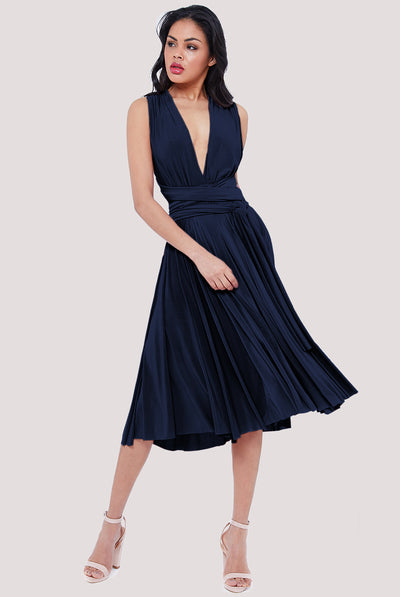 NICOLE MIDI DRESS NAVY