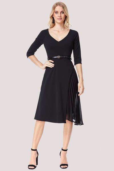 NORA MIDI DRESS BLACK