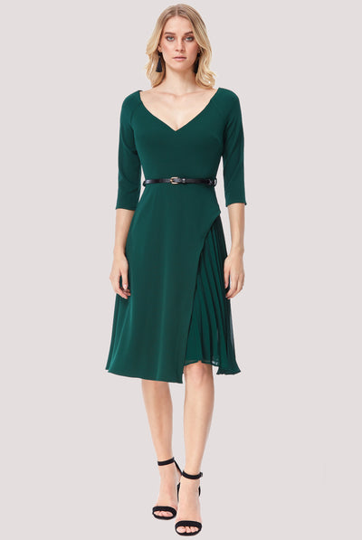 NORA MIDI DRESS EMERALD