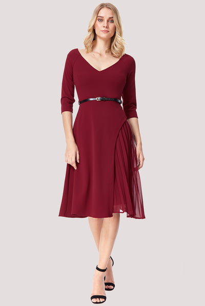 NORA MIDI DRESS WINE