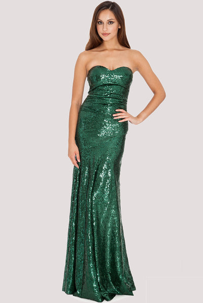 SAMIRA MAXI SEQUIN DRESS