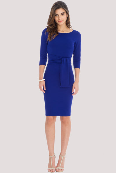 SERENA MIDI DRESS BLUE