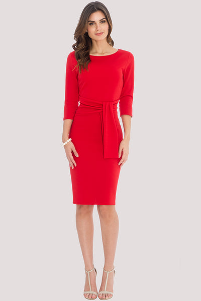 SERENA MIDI DRESS RED