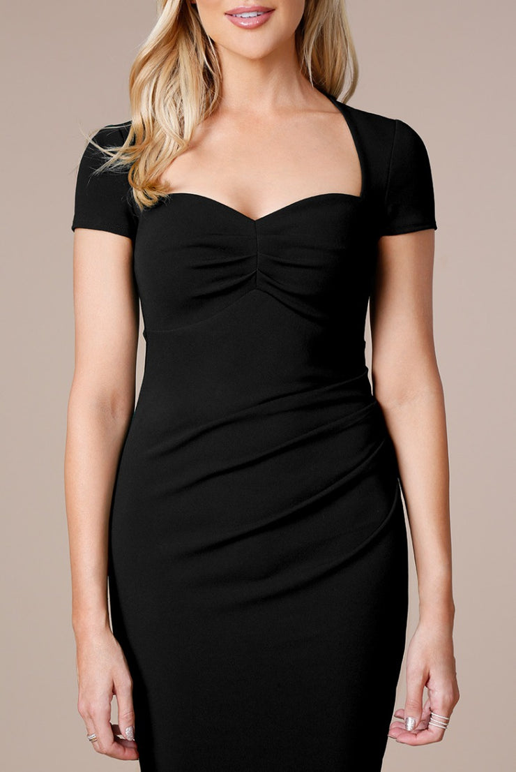 LOCKHEART MIDI DRESS BLACK