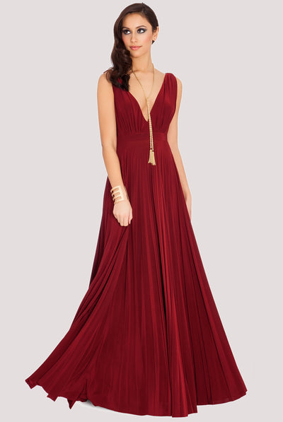 SUNRAY WINE MAXI DRESS