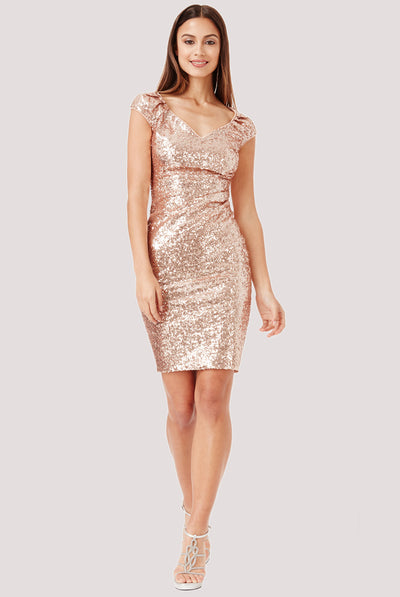 SWEETHEART MIDI SEQUIN DRESS