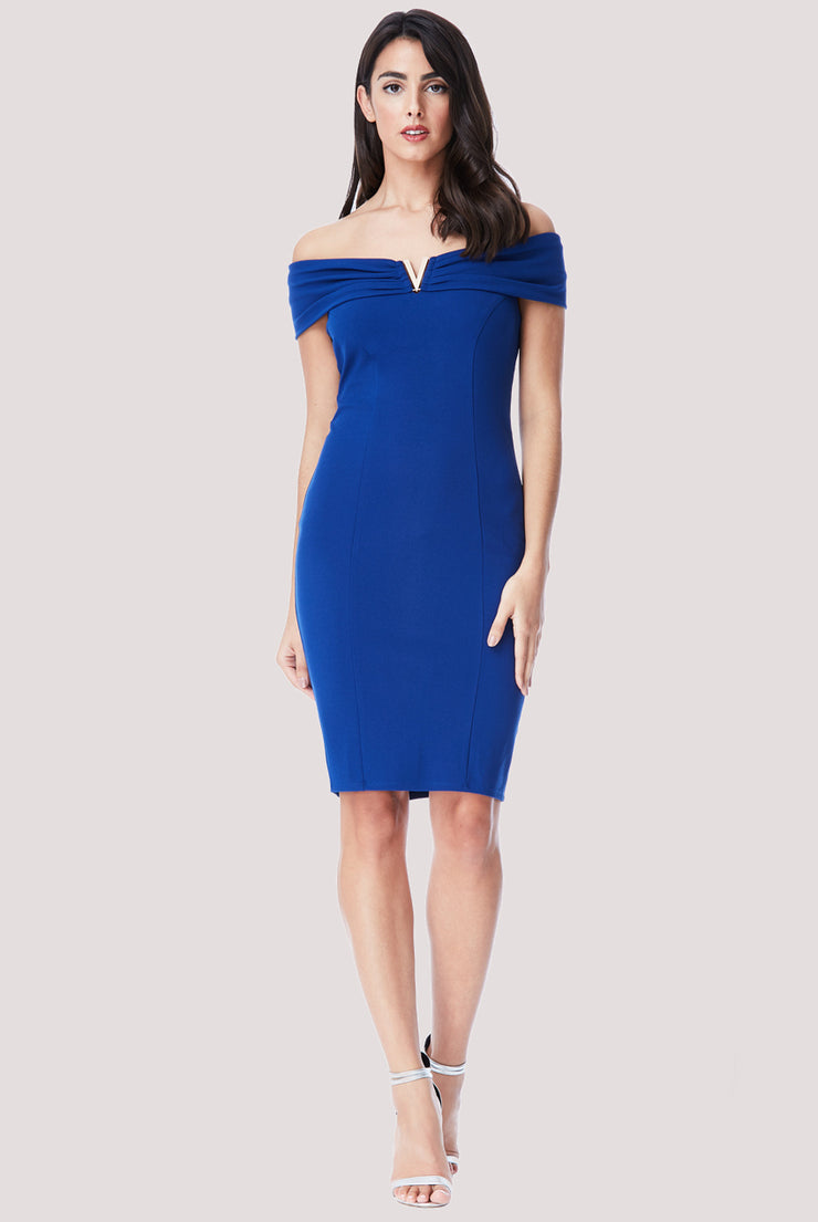 VERONICA MIDI DRESS BLUE