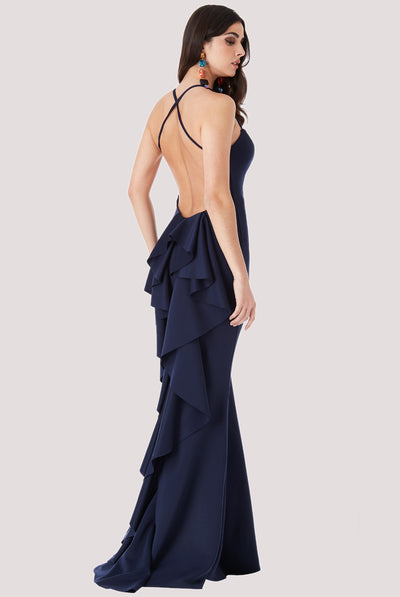 WATERFALL FRILL NAVY