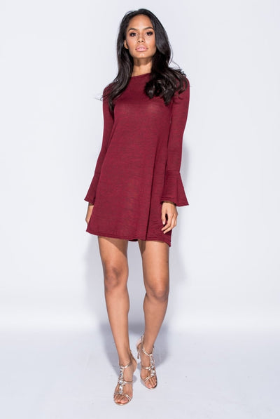 WINE BEAUTY DRESS