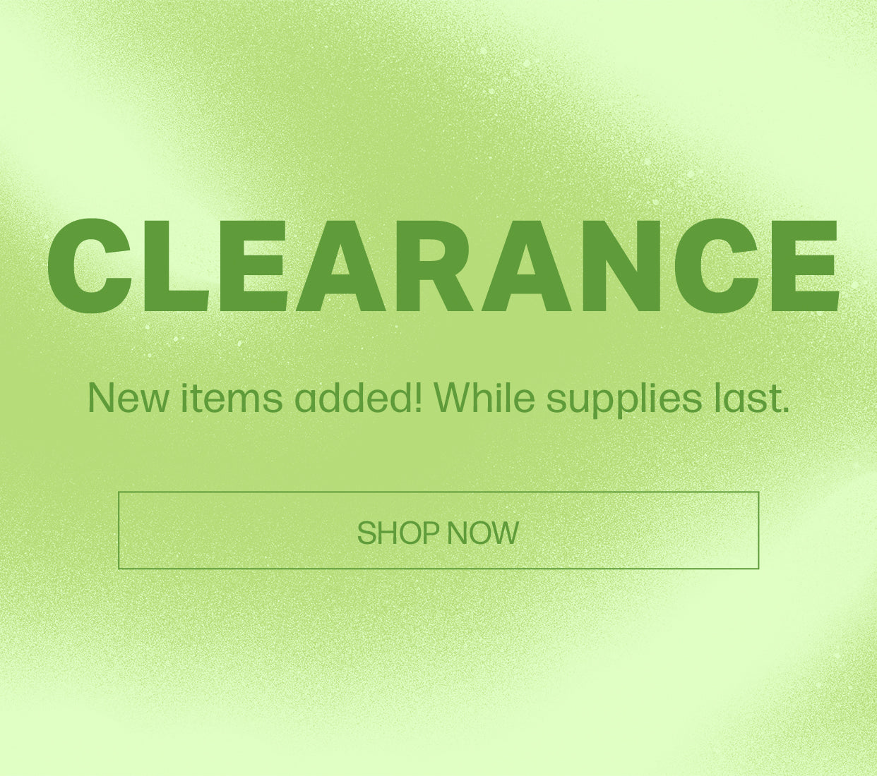 Clearance Banner Mobile