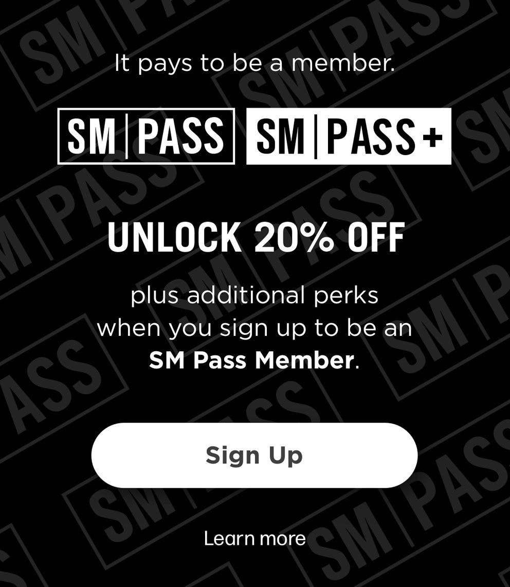 SM PASS & SM PASS+ - UNLOCK 20% OFF PLUS ADDITIONAL PERKS WHEN YOU SIGN UP TO BE AN SM PASS MEMBERSM PASS & SM PASS+ - UNLOCK 20% OFF PLUS ADDITIONAL PERKS WHEN YOU SIGN UP TO BE AN SM PASS MEMBER