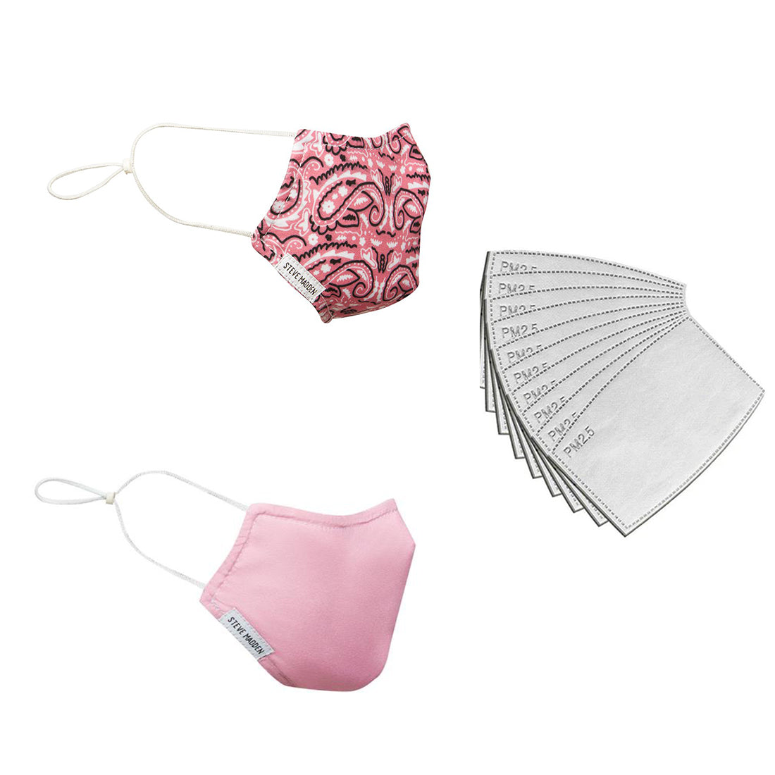 PINK BANDANA MASK + PINK MASK + MASK FILTER (PACK OF 20)