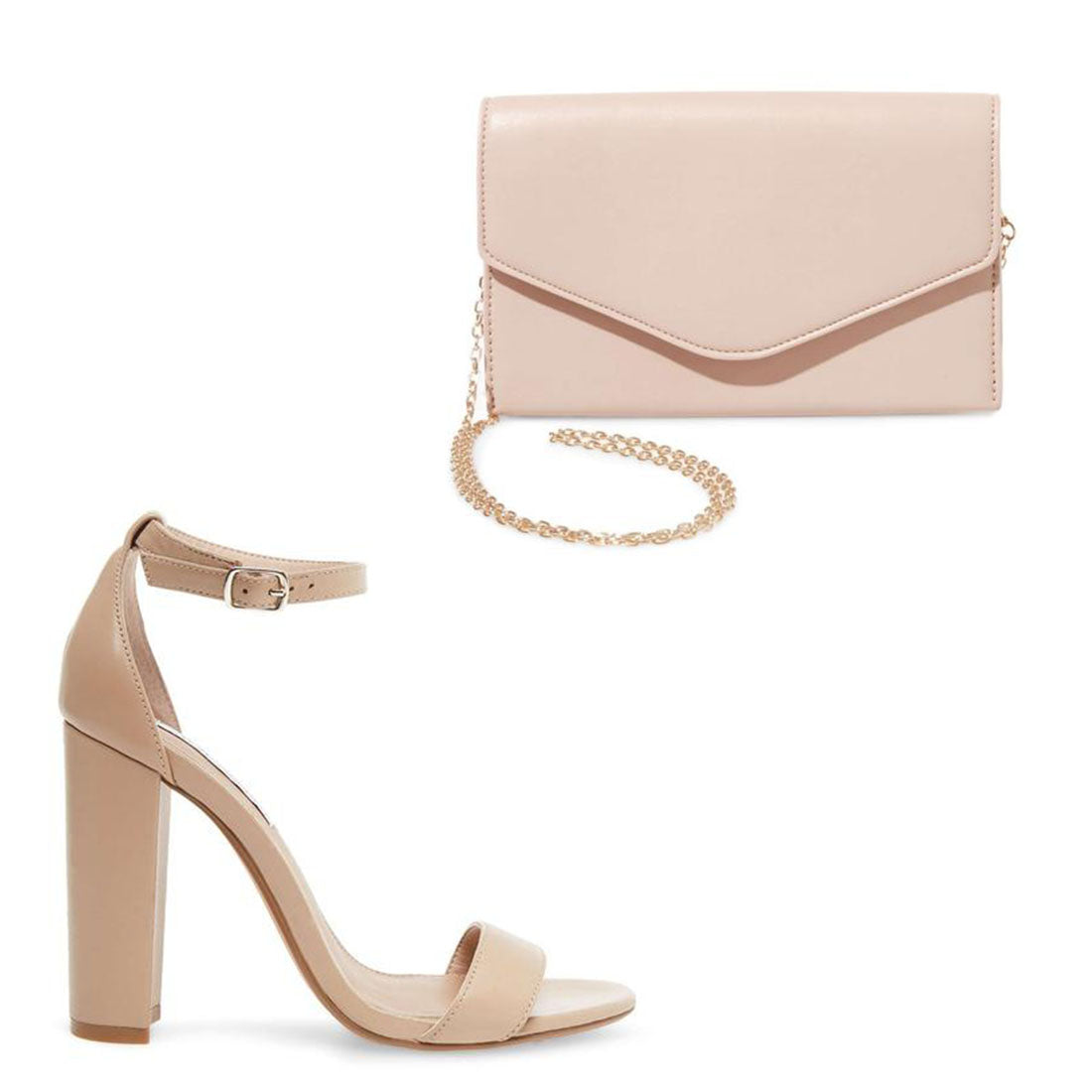 CARRSON BLUSH LEATHER + BWORLDLY NUDE